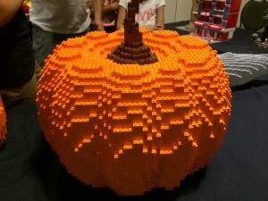Makers Faire: Pumpkin made of Lego.